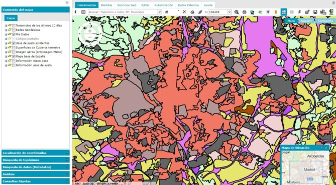 mapas urbanismo de españa