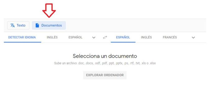 traducción documentos con google traductor