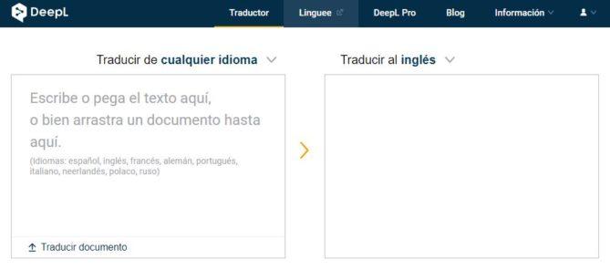 traductor de idiomas deepl