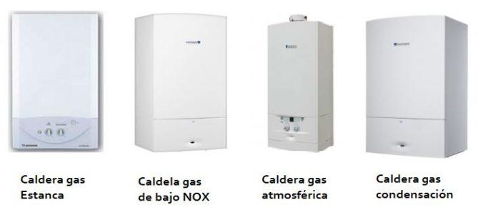 tipos de calderas de gas