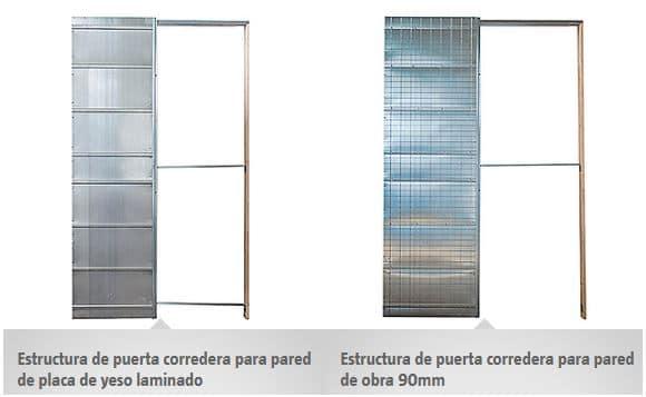 estructura de puerta corredera