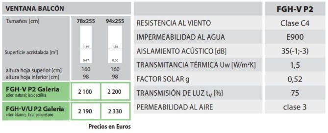 precios ventanas balcón