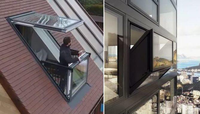 tipos de ventana balcón