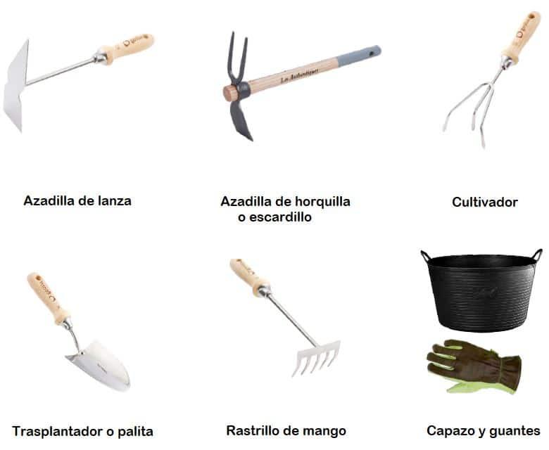 herramientas huertos para urbanos