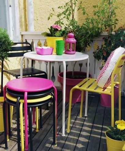 color en terrazas pequeñas