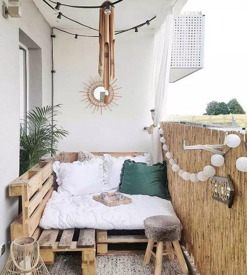 madera reciclada para balcón