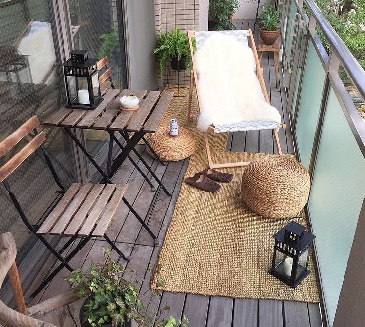 materiales naturales para balcones