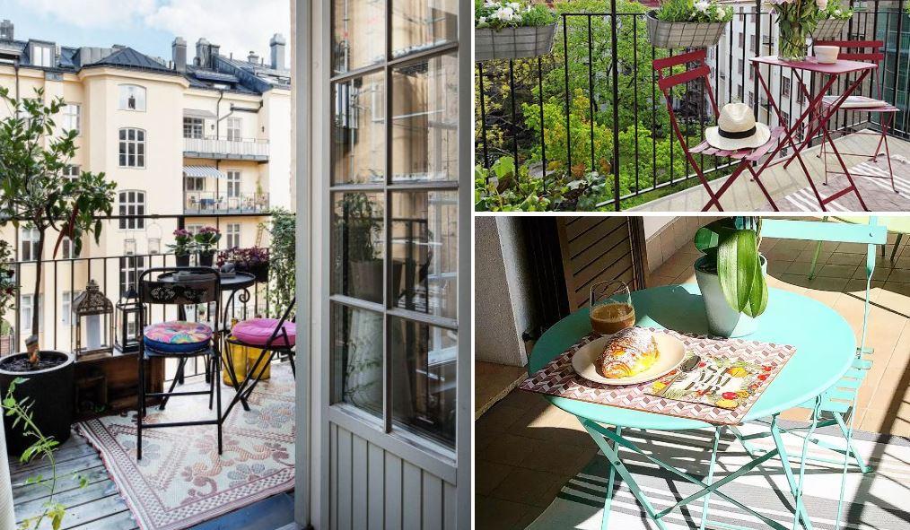 sillas para balcón