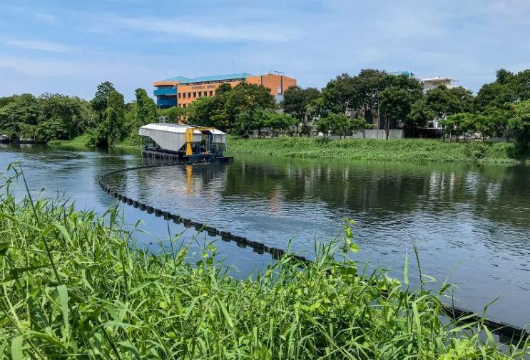 sistema limpieza plástico rios