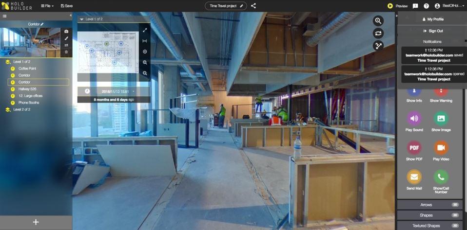 construcción en tiempo real