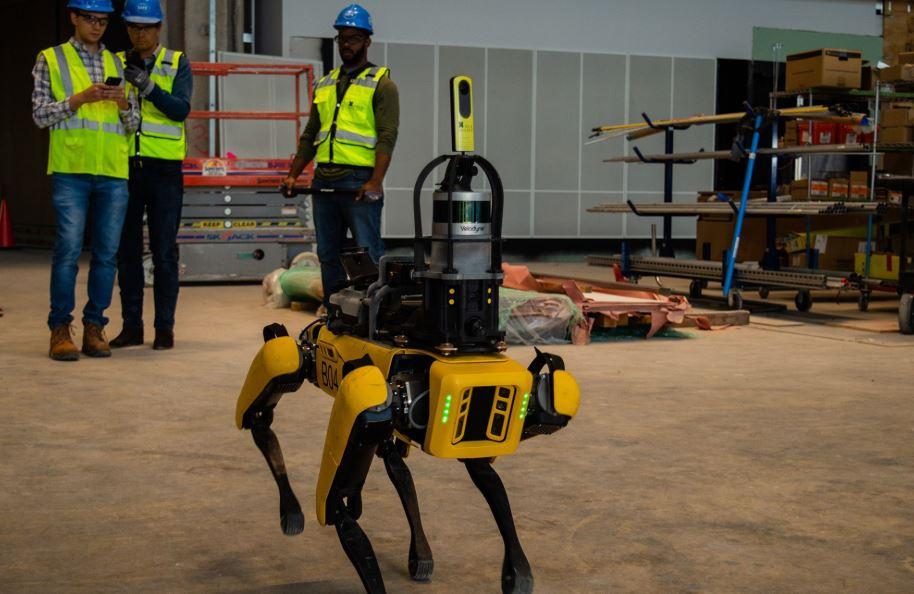 construcción obras con robots