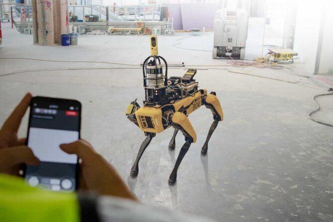 robot digitalizar obras en construcción