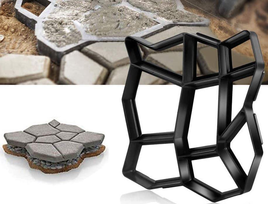 camino piedras hormigón impreso