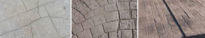 grietas en el concreto estampado