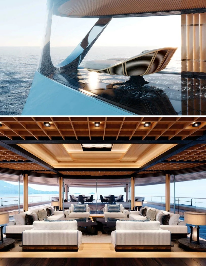 interior minimalista de un barco