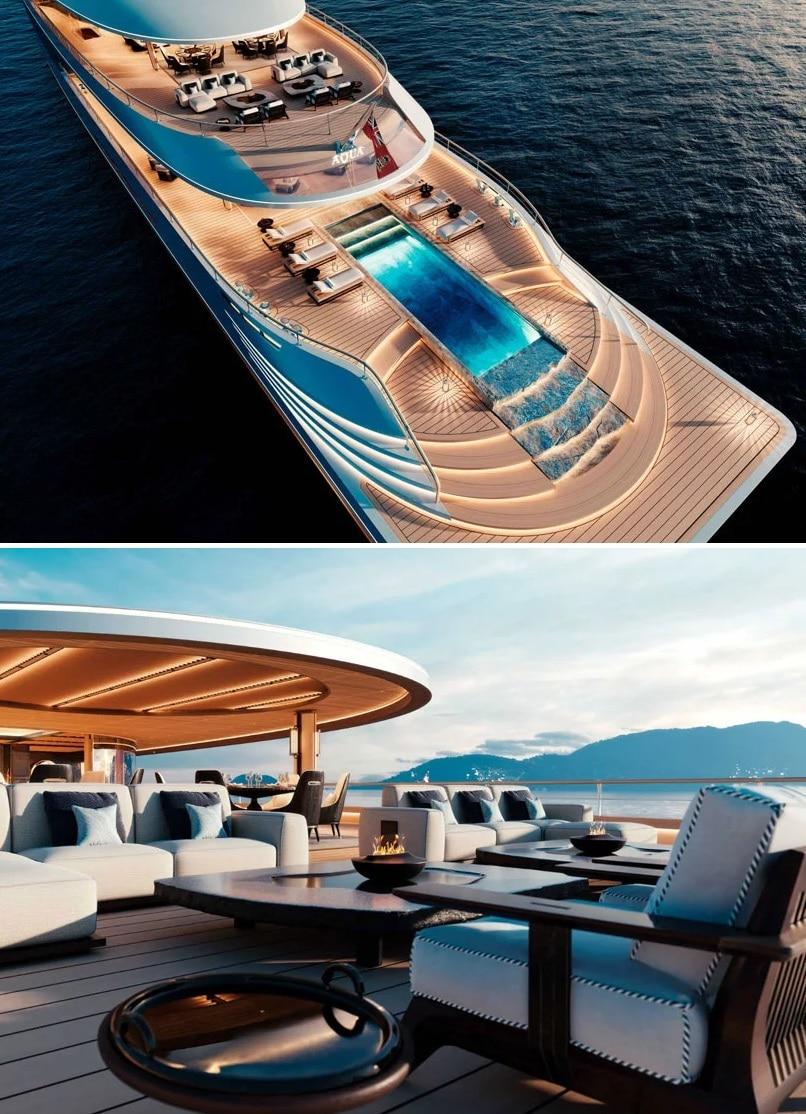 piscina de un barco
