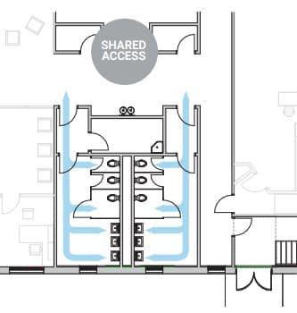 diseño baños covid universidades