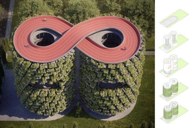 arquitectura verde y educativa que respeta la naturaleza