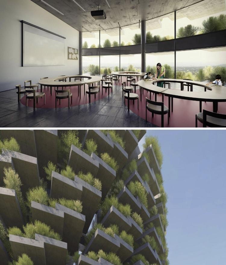 aula ecológicas para estudiantes