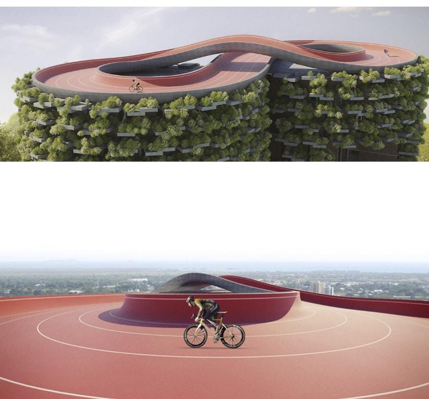 cubierta edificio para hacer deporte