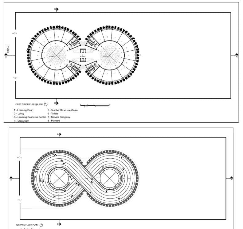 planos del edificio ecológico