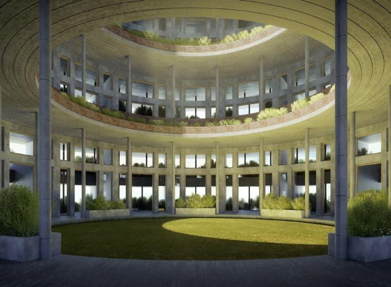 planta baja con luz desde cubierta