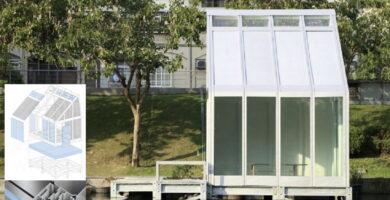 carpintería con ventanas de agua