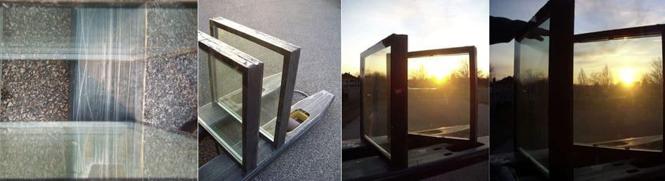 ventanas transparentes con agua