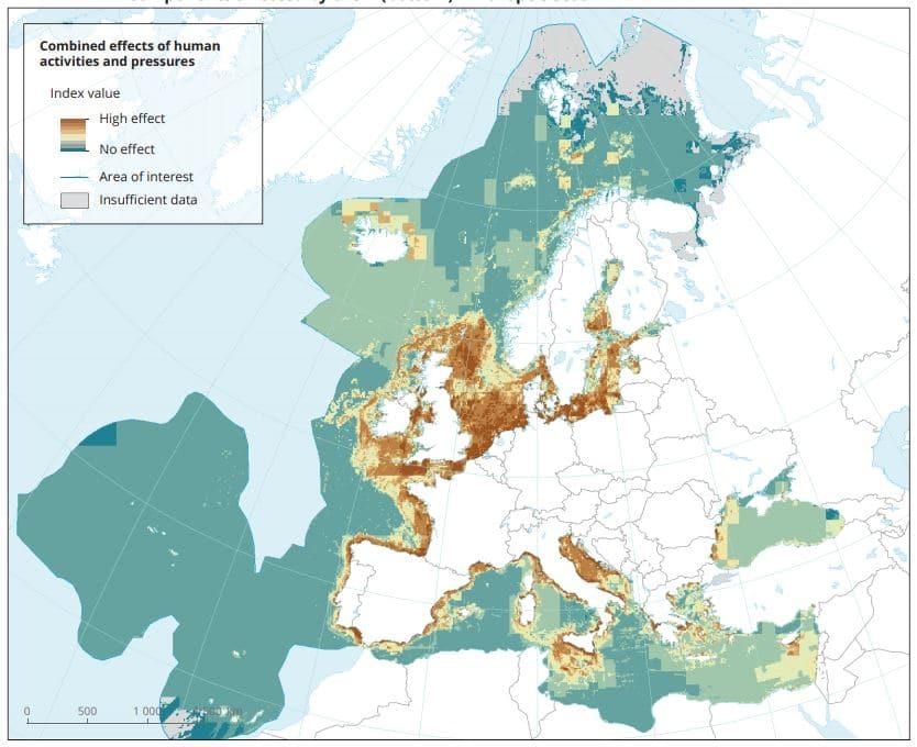 efectos humanos aguas mar europa