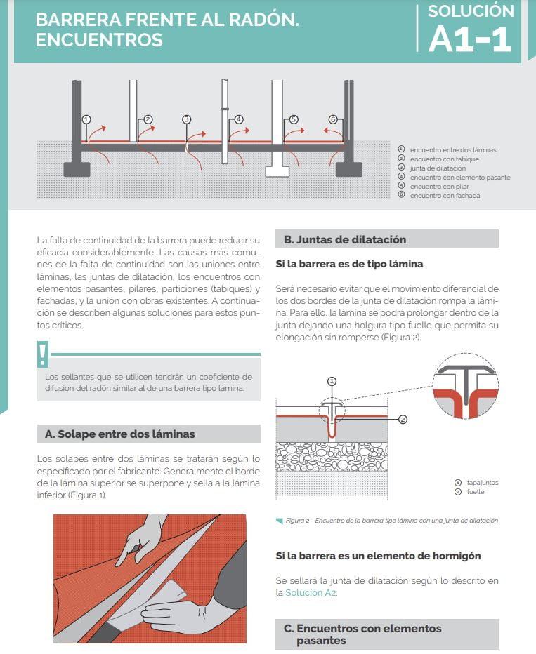 barreras frente gas radón en edificios