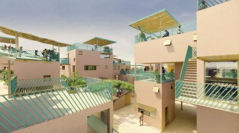 construcción viviendas plástico prefabricadas