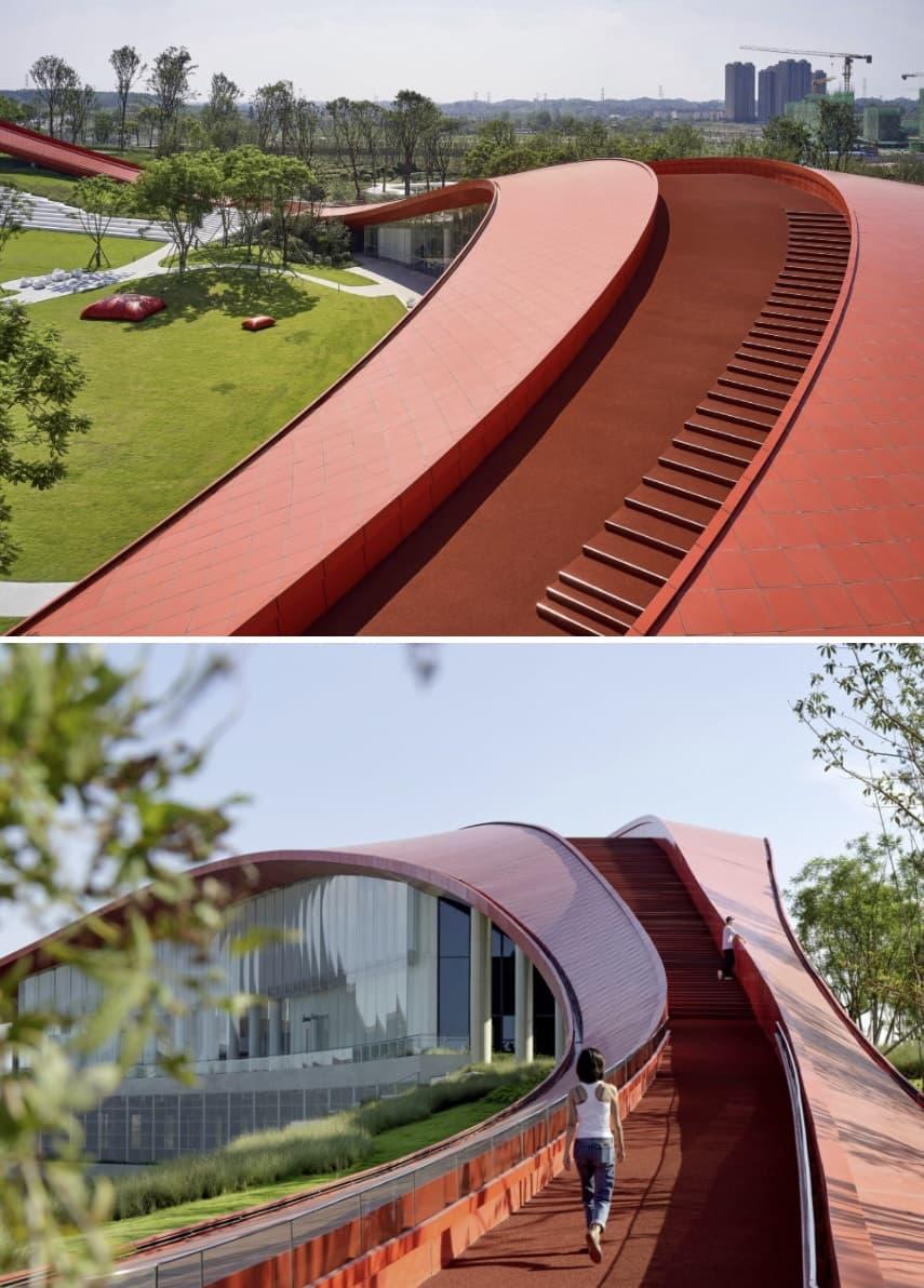 cubierta edificio en china
