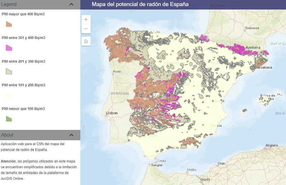 mapa del gas rondón España