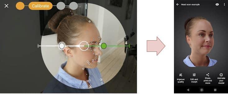 App escáner 3d personas