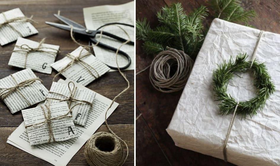enrollar regalo con papel de periódico