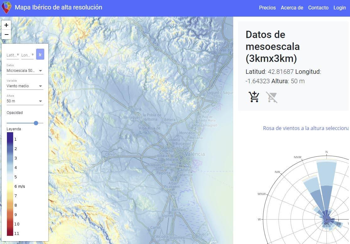 mapa del potencia eólico España