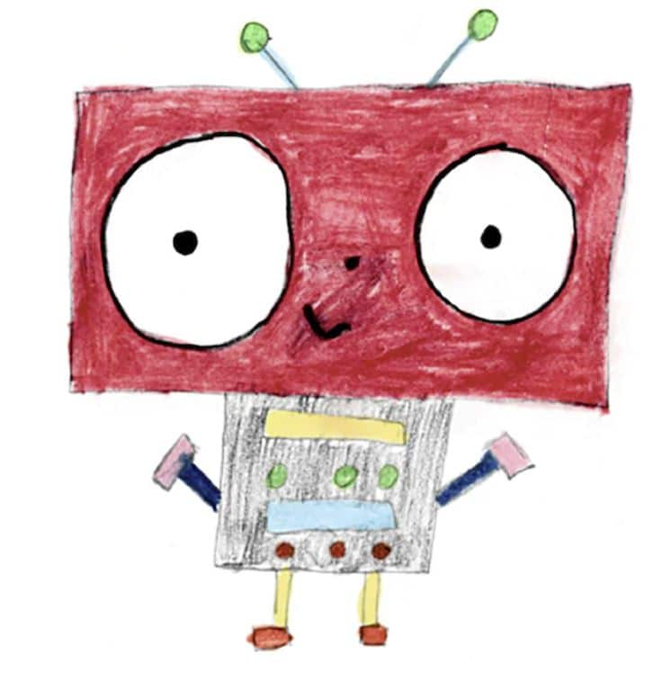 reutilizar dibujos niños para papel de regalo