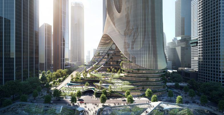 base edificio moderno