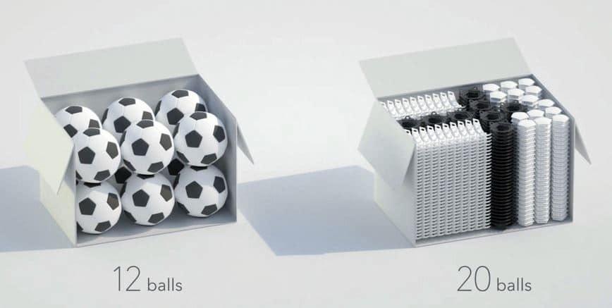 caja de balones para futbol