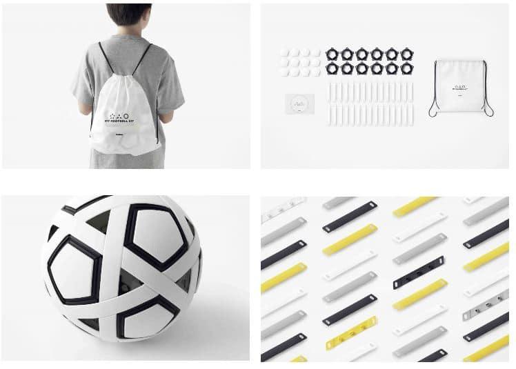montaje balón futbol