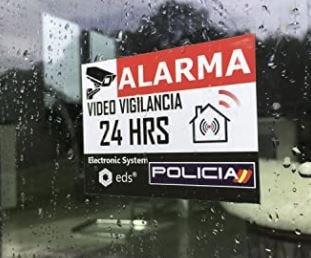 cartel alarma de seguridad