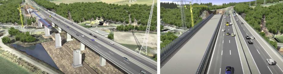trasladar puente autopista