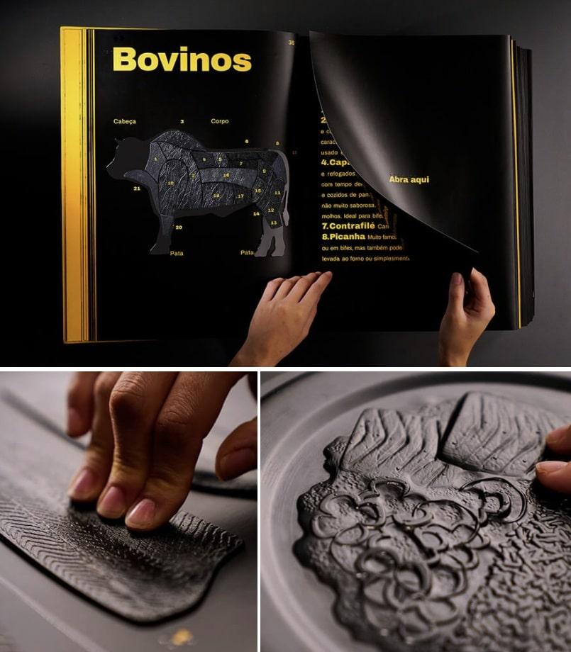 libro cocina con relieves