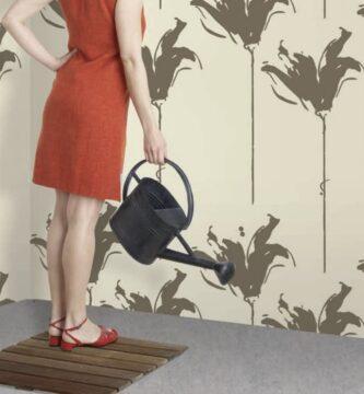 papel pintado para decoración de paredes