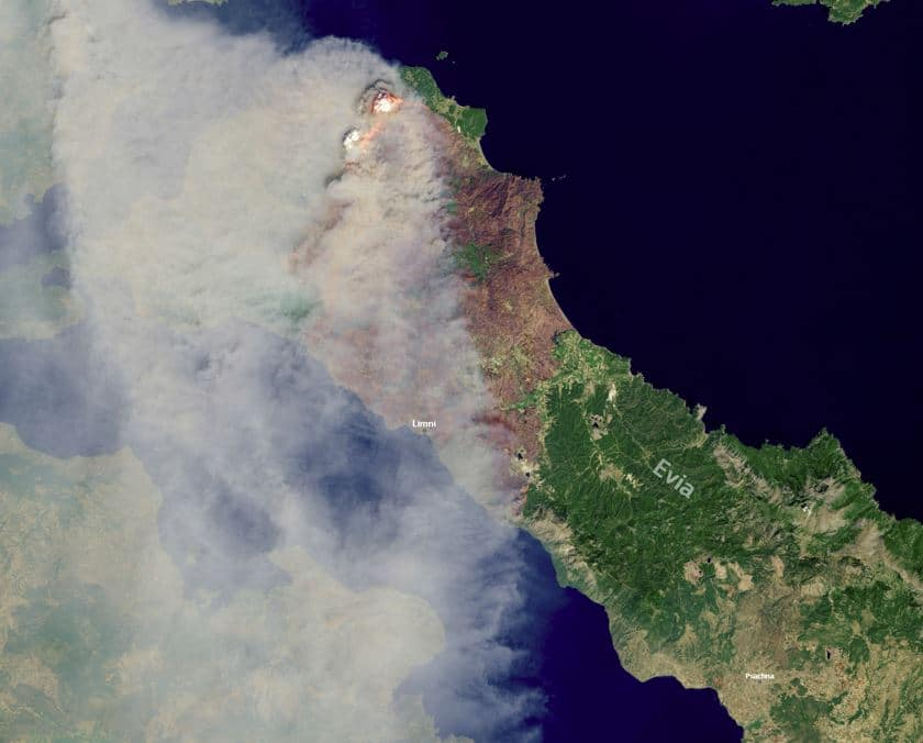 imagen satelital fuego