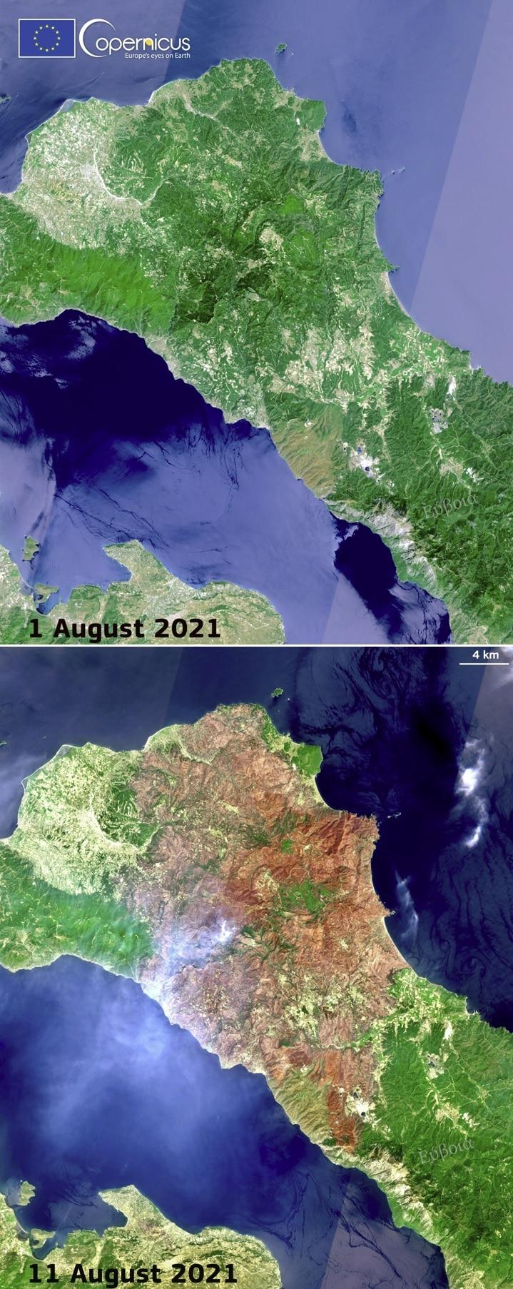 imágenes satelitales de Grecia