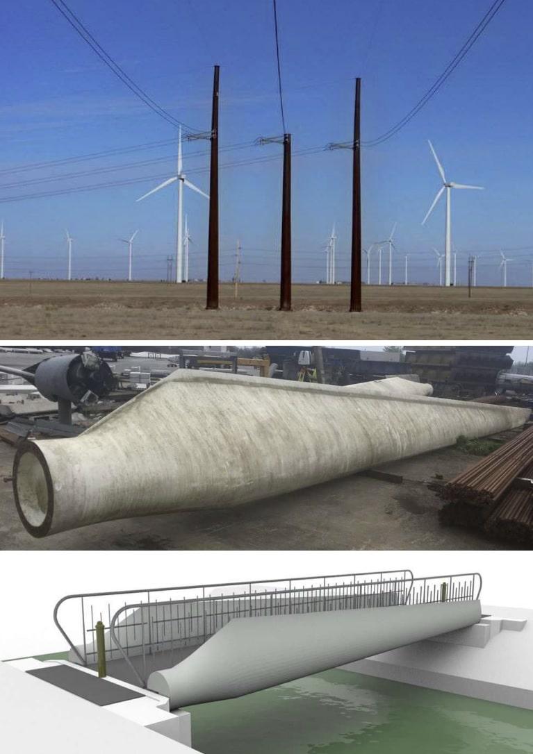 formas de reciclar palas turbinas