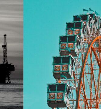 plataforma petróleo en el mar