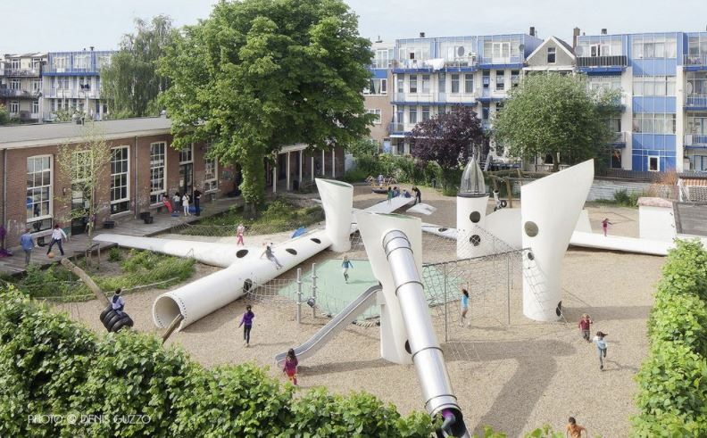 urbanismo con aspas eólicas